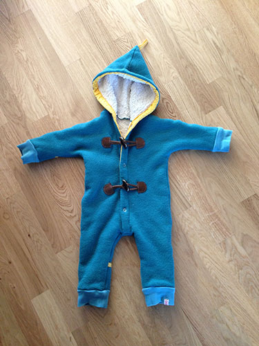 Baby Winteroverall nähen - naehen-ideen.de